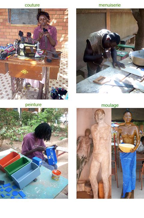 atelier couture, atelier menuiserie, atelier moulage, atelier peinture, ouagadougou, emploi, formation