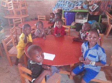 Groupe Banane (les enfants de 4 à 5 ans).